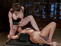 Sexy chanel dominating a horny slut