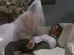 Crazy bride rides big stiff cock