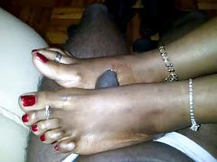 Chocolate ebony toes