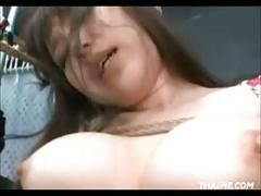 Asian shibari and masturbation
