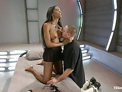 interracial, kinky, domination, blowjob, big boobs, black shemale, brunette, tranny milf, licking breasts, natassia dream, rocky, ts seduction, kinky dollars