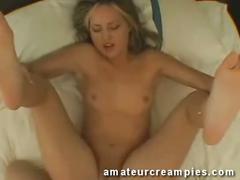 amateur, blowjob, brunette, creampie, doggystyle, fucking, hardcore, pie, sexy, sucking, xxx