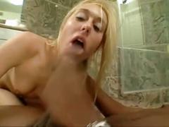 Bathroom interracial sex