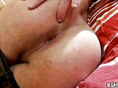 Sexy thin gay undressing and masturbating