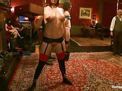 bdsm, hanging, redhead, gangbang, kinky, stockings, mask, short hair, fingering, brunette, collar, ropes, shibari, ariel x, odile, krysta kaos, maestro stefanos, the upper floor, kinky dollars