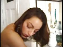 Shaina la beurette (french arab girl) fucked in the kitchen