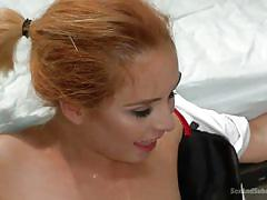 Busty submissive nurse gets mouth fucked