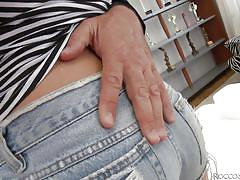 She sucks his finger and cock @ rocco's pov volume #35