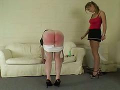 Spanked maid