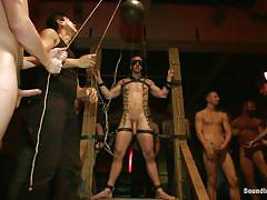 bondage, bdsm, torture, public, gangbang, blowjob, blindfolded, gays, jerking off, chained, clothespins, hunks, john jammen, jessie colter, sebastian keys, josh west, randall o'reilly, bryan cole, bound in public, kinky dollars
