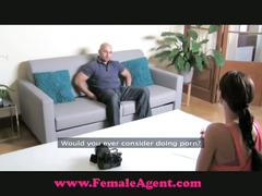 A big cock for the female agent
