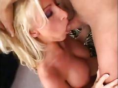 Busty blonde's pierced pussy fucked