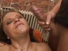 German anal bitch vs 2 cocks