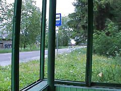 Bus stop can be a nice place to be fucked