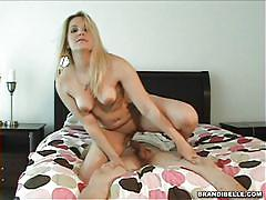 Blonde milf gives head and gets fucked