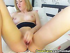 Hot russian blonde playing her tight snatch hd