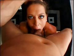 Hot brunette's butt fucked