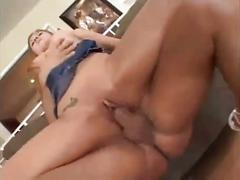 Sexy blonde butt fucked hard