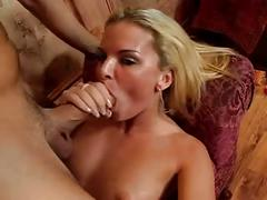 Baby blonde blowjob