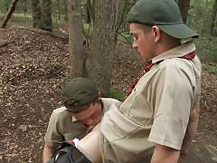 outdoor, uniform, deepthroat, scout, woods, gay sex, gay handjob, gay, big dicks at school, men, ck steel, johnny rapid