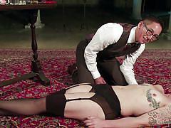Slutty milf enjoys nipple torture