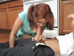 Amateur couple fucking in kitchen
