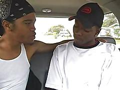 Black gay twinks kissing and being naughty