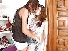 small tits, lesbians, babe, russian, slim, kissing, brunette, natural tits, undressing, pussy rubbing, natasha shy, vika, natasha shy, diesel action