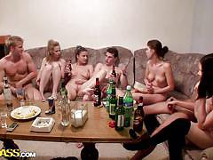 College orgy on a very crowded couch