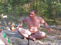 Russian swingers outdoors