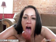 Brazzers - fishnet babe gets pounded