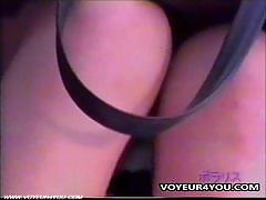 Schoolgirl caught with their upskirt panties
