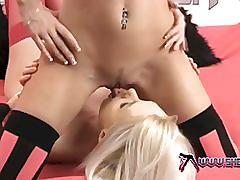 Shebang.tv - young lesbian eating juicy pussy