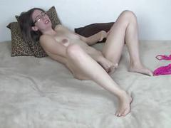 Rachal solo take the vibrator like a champ and cums slu whore cum