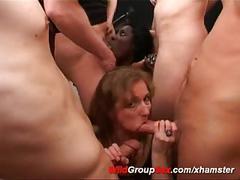 German gangbang orgy