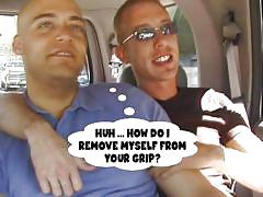 blowjob, twink, kissing, talking, anal fingering, gays, undressing, in car, sunglasses, bald gay, mike xxx, wiley, ex gay bfs, gay tronix