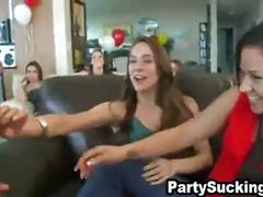 Party skanks blow penis at audrey's wild surprise get together