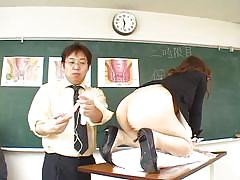 Asian schoolgirls learning about anal sex