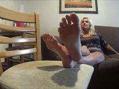 Blonde with nice soles