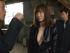 milf, threesome, big tits, asian, costume, kinky, brunette, cosplay, tied up, roleplay, sucking nipples, gun, yuma asami, j cos play, idol bucks