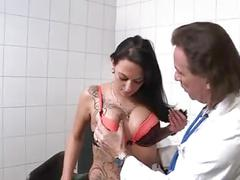 Brunette fucked by big doctor