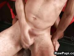 Hot latino studs in barebacking party