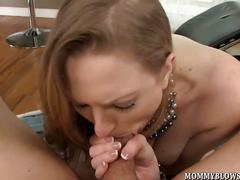 Vicky vixen sucks trouser snake