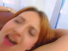 Little redhead gets both holes nailed