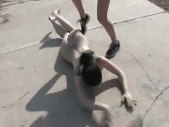 Lesbian trampling and humiliation femdom
