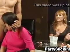 Naughty skanks suck cock at peyton's crazy cocktail celebration
