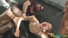 blonde, gangbang, german, hardcore, group, lingerie, photoshoot, pissing, stockings, more
