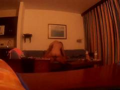 Girlfriend rides cock in holidays real couple