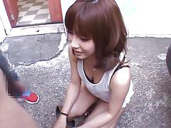 teen, handjob, japanese, outdoor, blowjob, talking, brunette, car, anna anjo, idols 69, idol bucks
