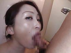 Nippon milf gives amazing sloppy blowjob